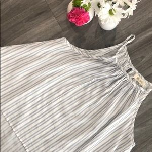Bella Dahl blue and white striped summer top